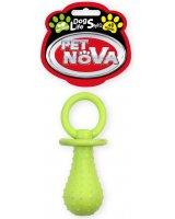PET NOVA TPR Pacifier Yellow 14cm, VAT009604
