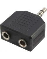 LogiLink Jack 3.5mm - 2x Jack 3.5mm Czarny (CA1002)
