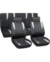 Sėdynių užvalkalai, juoda-pilka
