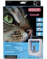 Zolux Drzwiczki dla kota do drzwi drewnianych z magnetycznym zamykaniem - białe