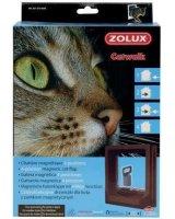 Zolux Drzwiczki dla kota do drzwi drewnianych z magnetycznym zamykaniem - brązowe