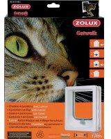Zolux Drzwiczki dla kota z tunelem do drzwi drewnianych - białe