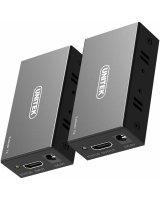 System przekazu sygnału AV Unitek 60M Extender HDMI przez Ethernet (V100A)