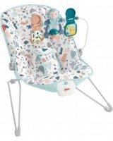 Mattel Fisher-Price Leżaczek bujaczek Baby Gear 9kg z wibracjami GWD38 MATTEL