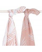 Jollein Jollein - 2 otulacze niemowlęce Hydrophilic 115 x 115 cm Nature Pale Pink, 8717329354050