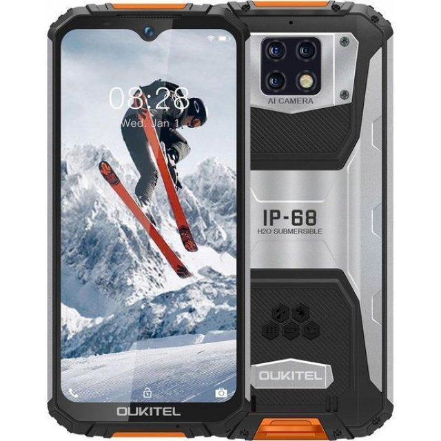 Smartfon Oukitel WP6 128 GB Dual SIM Czarno-pomarańczowy (2_304021)