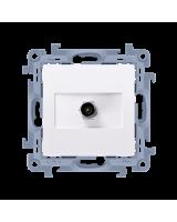 Kontakt-Simon Gniazdo antenowe typu F pojedyncze biały (CASF1.01/11)