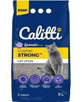Calitti CALITTI Żwirek Strong Lavender 5l, CAL-LAV-5L