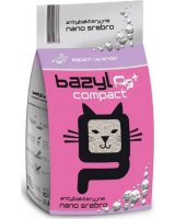 BAZYL Bazyl Compact Lavender AG+ - żwirek bentonitowy, zbrylający, z jonami srebra, o zapachu lawendy 5 litrów, 94986