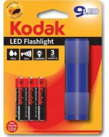 Latarka Kodak Mini Latarka Ręczna Kodak 9 Led Ip62 25m + 3x Aaa - Niebieska, SB5252