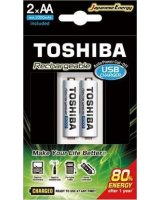 Toshiba Ładowarka Toshiba READY TO USE TNHC-6GME2 CB ładowarka USB +2x2000mAh, 00159080