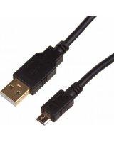 Kabel USB Digitus Kabel połączeniowy USB 2.0 HighSpeed Typ USB A/microUSB B M/M czarny 1m-DK-300161-010-E