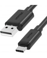 HUB USB Unitek Unitek przewód USB-A — USB-C krótki 25cm Y-C480BK