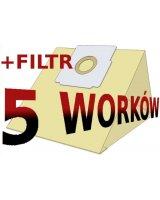 Worek do odkurzacza Zelmer Papierowy 1500 B.Filtr, KAT00178