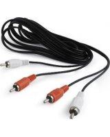 Kabel Gembird RCA (Cinch) x2 - RCA (Cinch) x2 1.8m czarny (CCAB-2R2R-6)