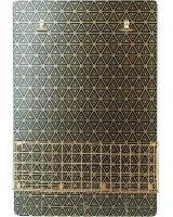 Affek Design SARA GOLD Tablica z półką 40x6x60cm, czarno-złoty
