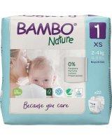 Bambo Ekologiškos sauskelnės BAMBO NATURE 1 (2-4 kg), 22 vnt.