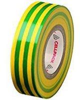 Cellpack Taśma izolacyjna 128 PVC żółto-zielona 10m (145808)