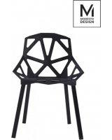 Modesto Design krzesło Split Mat czarny, 5900168801806