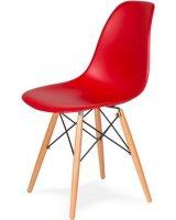 King Home Krzesło DSW Wood krwista czerwień, 5900168806634