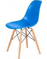 King Home Krzesło DSW Wood niebieski, 5900168806689