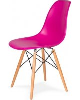 King Home Krzesło DSW Wood wściekły róż, 5900168806825