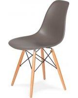 King Home Krzesło DSW WOOD popielaty szary.17 podstawa drewniana bukowa, 5900168806764