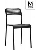 Modesto Design MODESTO krzesło DAVIS czarne - polipropylen, metal, PM055.WHITE [11686954]
