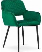 Mufart Zestaw krzeseł 2 szt, do salonu, gabinetu, sypialni, jadalni czy poczekalni VANT - Zielony Aksamit, model_3567_2-AMALFI-VANX08