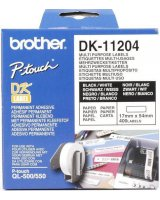 Brother taśma DK-11204 (black on white), DK11204
