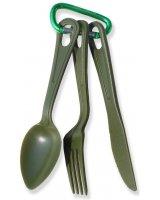 Rockland Zestaw sztućców PC Tools zielony, 73