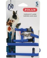 Zolux Szelki i smycz dla szczura S kol. niebieski