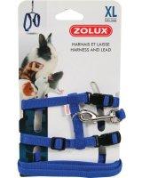 Zolux Szelki i smycz dla królika XL kol. niebieski