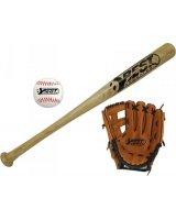 Best Sporting Zestaw do baseballa kij piłka i rękawica Best Sporting, 4009197630409