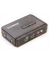 Przełącznik EdiMax (EK-UAK2) Przełącznik KVM 2xUSB, AUDIO+MIC, 2 x 1.8M odpinane kable, EKUAK2