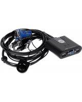 Przełącznik Aten KVM USB- pilot zintegrowane kable (CS22U )