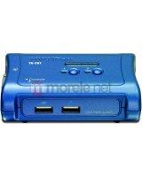 Przełącznik TRENDnet 2xK/V/M 2048x1536 USB 2xCables TK-207K, TK207K