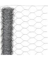 Nature Nature Siatka z drutu, sześciokątna 0,5x10 m 40 mm, galwanizowana stal, 419770
