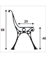 Noga do ławki średnia 4 deski, NOGA SRE3