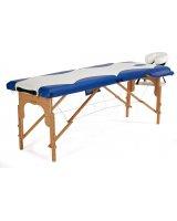 BODYFIT Łóżko do masażu 2 segmentowe dwukolorowe biało-niebieskie, 1039-uniw