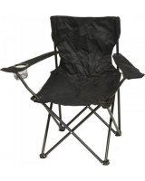 Saska Garden Krzesło turystyczne deluxe składane wędkarskie czarne, 288432-uniw