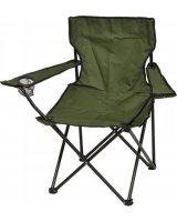 Saska Garden Krzesło turystyczne deluxe składane wędkarskie zielone, 288431-uniw