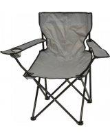 Saska Garden Krzesło turystyczne deluxe składane wędkarskie szare, 288430-uniw