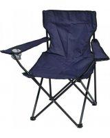 Saska Garden Krzesło turystyczne deluxe składane wędkarskie granatowe, 288429-uniw