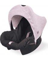 Jollein Jollein - Osłonka tkana do fotelika nosidełka 0 - 9 m-cy Confetti Knit VINTAGE PINK, 8717329334205