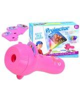 Pārnēsājams projektors - lukturītis, rozā, HRTA0078