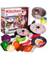 Vaikiškas virtuvės rinkinys su produktais