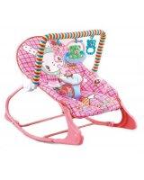 Bērnu šūpuļkrēsls, rozā, 58x8,5x39 cm