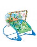 Bērnu šūpuļkrēsls, zils, 58x8,5x39 cm