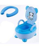 Mīksta podiņa apmācības tualete - zila